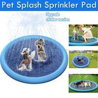 Splash Sprinkler Pad Pet Dog Kids Inflatable Wading Pool Water Play Toys Large