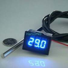 digital led thermometer Temperaturanzeige Meter ds18b20 Sensor 12V water Auto B