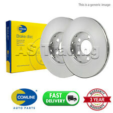 PAIR OF REAR COMLINE COATED BRAKE DISCS FOR NISSAN ELGRAND  3.5 AWD (2002-2010)