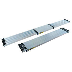 9 ft. Aluminum Telescoping Work Plank with 250 lb. Load Capacity, Safe & Stable