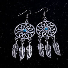 Dream Catcher Bohemian Drop Dangle Earrings Feather Jewelry Women Retro Charm