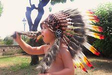 N11 - de 2 à 5 ans Kid / enfant: 3 couleurs indien coiffe 20,5 pouces. -52 cm