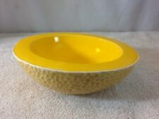 """Cool Unique Ceramc Cantaloupe Shaped Bowl 6 1/2"""" Round pre-owned Must Have Nice"""
