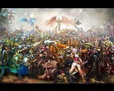 League of Legends LOL Poster Art Print Gamers Wall Decor 20x16 inches