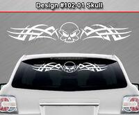 #166 SKULL TRIBAL Sticker Rear Window Decal Design Car