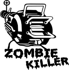 "ZOMBIE KILLER ZOMBIE Vinyl Decal Sticker-6"" Wide White Color"