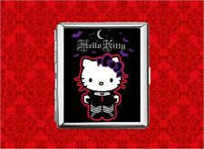 HELLO GOTH KITTY CAT BAT MOON METAL WALLET CARD CIGARETTE ID IPOD CASE