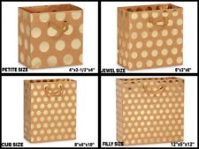 GOLD DOTS on KRAFT Design Gift Paper Bag Choose Size & Package Amount