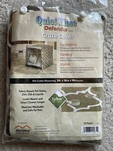 """Midwest Quiet Time Crate Cover - Geometric Brown - Small 24"""" x 18"""" x 19"""" New"""