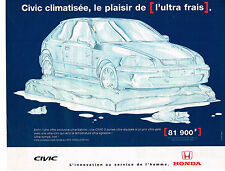 PUBLICITE ADVERTISING 045  1998  HONDA CIVIC 3 portes