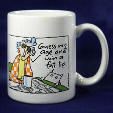 Hallmark Maxine Mug Guess My Age and Win a Fat Lip Birthday Coffee Cup Humor