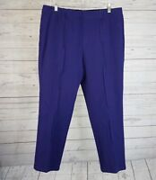 Isaac Mizrahi Live Womens Pull On Pants Sz 16 Purple Cotton Blend