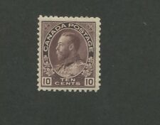 1912 Canada King George V 10c Mint NH Postage Stamp #116 Catalogue Value $675