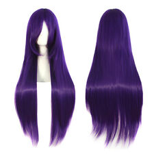 Womens Long Straight Hair Wig Anime Cosplay Costume Fancy Dress Party Full Wigs