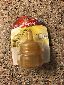 Playtex Nurser NATURALATCH Nipples~0-3m / Latex Slow~BPA free~Use w/ Drop-Ins