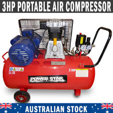 Belt Driven 3 horse power 12CFM Air Compressor Portable 300L/min 80Lt Tank
