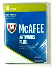 NEW McAfee Antivirus Plus 2017 up to 10 Devices 1 yr Windows 10 Mac Android iOS