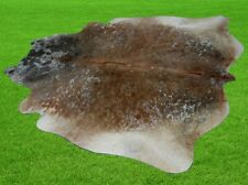 """New Cowhide Rugs Area Cow Skin Leather 27.99 sq.feet (65""""x62"""") Cow hide A-5684"""