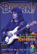 Burrn! Heavy Metal Magazine September 2016 Japan Ritchie Blackmore Sabaton
