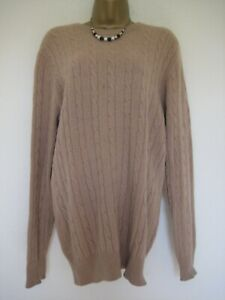 Scottish Collection brown 100% cashmere jumper size 18/20?
