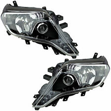 Pair of Headlights Toyota Landcruiser Prado 14-15 New 150 VX Kakadu Blk Lamp LED