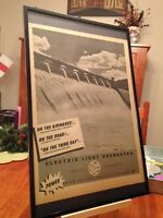 """2 FRAMED ELECTRIC LIGHT ORCHESTRA """"ON THE THIRD DAY"""" LP CD PROMO ADS - 2 sizes!"""