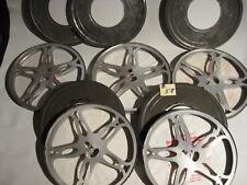 5 Stück Filmspulen Simplex aus Metall in 5 Filmkdosen für je 300 Meter-Reels B58