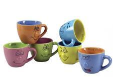 6 pz tazzine tazza tazzina caffè espresso smorfia colorate in ceramica bar