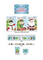 Christmas 5 Piece Stationery Writing Set - Party Bag Filler Girls Boys Gift New