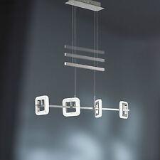 wofi LED Pendulum Light Davis 4-flg Chrome Nickel Acrylic Adjustable