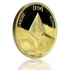 Ethereum Sammlermünze, Medaille, Sammelmünze, Crypto Krypto echt vergoldet
