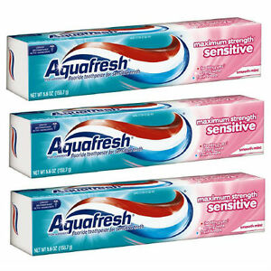 3 PACK Aquafresh Toothpaste for Sensitive Teeth 5.6oz 053100324309CT