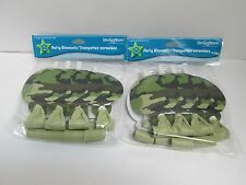 MILITARY ARMY CAMOUFLAGE CAMO PARTY BLOWERS -  2 PACKAGES -  PARTY SUPPLIES