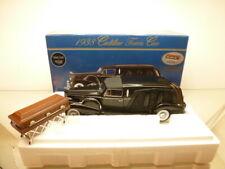PRECISION 1938 CADILLAC TOWN CAR HEARSE - BLACK 1:18 - GOOD CONDITION IN BOX