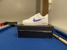 Nike Air Force 1 'Sketch' (Blue / White) - Size 8 UK / 9 US