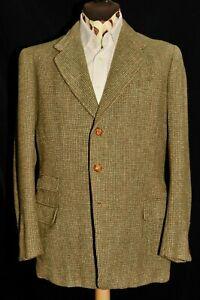 Bespoke Vintage Billings & Edmonds Green Barleycorn Tweed Jacket  40'' R 1950's