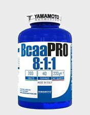 YAMAMOTO NUTRITION BCAA PRO 8:1:1 Aminoacidi Ramificati Kyowa 200 Compresse