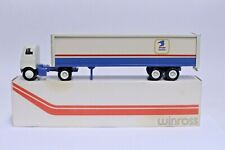 NICE VINTAGE WINROSS US MAIL POSTAL SERVICE TRACTOR TRAILER W/ BOX