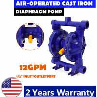 Air-operated Double Diaphragm Cast Iron Pneumatic Pump 12GPM Flow Rate115PSI