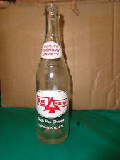 Red Arrow Soda Pop Shoppe Detroit Michigan 10oz Clear Soda Bottle