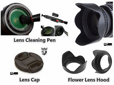 FP184u Lens Hood + Cap + Lens Pen for Fujifilm FinePix HS30EXR HS35EXR HS50EXR