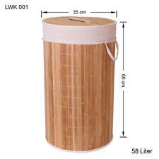 bambou Panier à Linge Boîte à vêtements Coffre à Linge Sac à vêtements lwk001