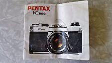 Asahi Optical Pentax K1000 Manual / Guide Printed in Japan 9/84 copywright 1975