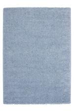 ANGEBOT Teppiche Hochflor SHAGGY BILLIG Weich UNI Teppich Hellblau 150x220