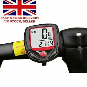 LCD Digital Waterproof Bike Computer Cycle Speedometer Wired