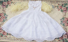 White Lace Dress for BJD 1/6  1/4 1/3 SD16 DD SD Doll Clothes CWB20