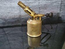 Vintage Swedish Brass Blow Lamp