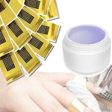 100 modellierschablonen GRATIS ✔ per UV + LED 1-phasengel (5ml schablonengel, chiaro)