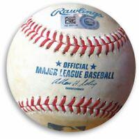 Yasiel Puig Game Used Baseball Dodgers 9/5/14 Foul Ball off Nuno (AZ) HZ350118