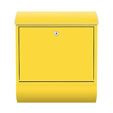 Design Briefkasten mit Zeitungsfach Gelb Farbe Sonne Abstrakt Retro Brief RID25